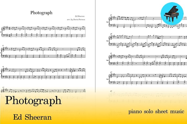Ed Sheeran Photograph Piano Sheet Music